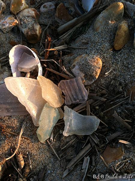 sunset in Poole, England collecting sea glass seaglass @ BandBBuildALife.com