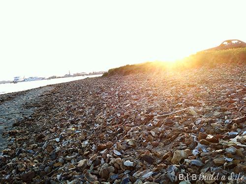 sunset in Poole, England @ BandBBuildALife.com