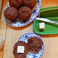 HOT COCOA Banana Muffins