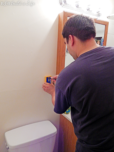 Bathroom Shelf Upgrade @ BandBBuildALife.com