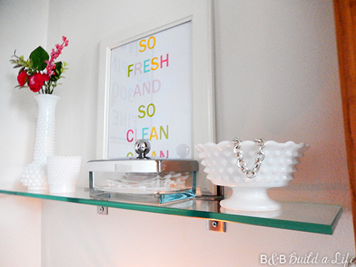 Bathroom Shelf Upgrade printable art @ BandBBuildALife.com