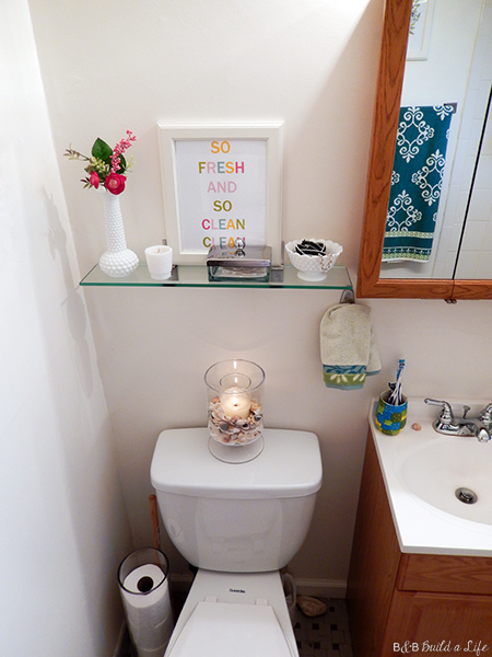 Bathroom Shelf Upgrade printable art @ BandBBuildALife.com