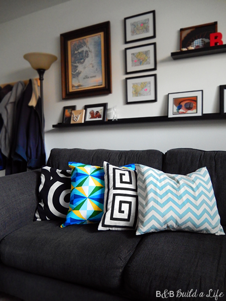 summer geometric pillows chevron greek key @ BandBBuildALife.com