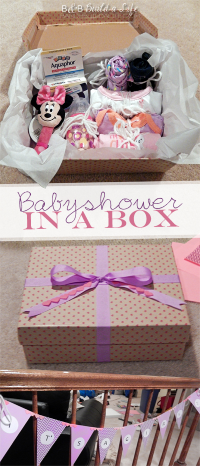 Babyshower in a box @ BandBBuildALife.com