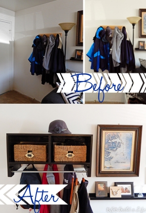 ikea inspired coat rack @ BandBBuildALife.com