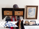 ikea inspired coat rack @ BandBBuildALife.com