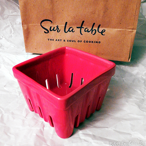 ceramic berry container from sur la table in red @ BandBBuildALife.com