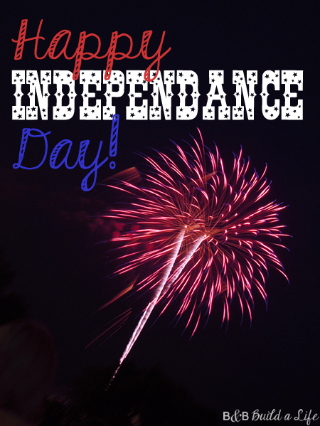 Happy 4th of July Independance Day! @ BandBBuildALife.com