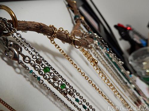 branch jewelry hanger at BandBBuildALife.com