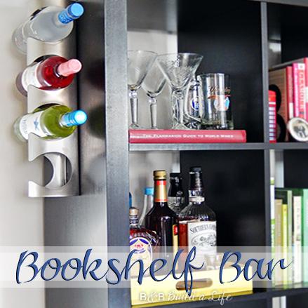 Bookcase bar bookshelf bar Expedit Bar @ BandBBuildALife.com