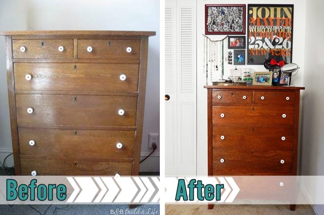 craigslist dresser restored and dressed up at BandBBuildALife.com
