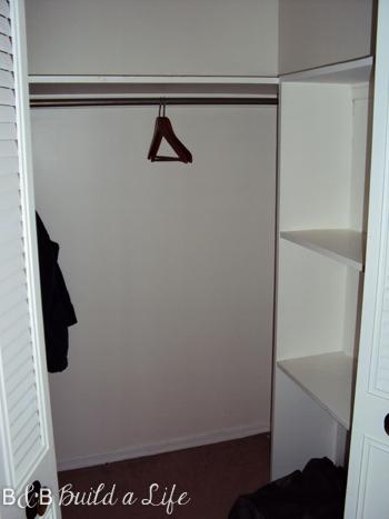 emptry closet at bandbbuildalife.com