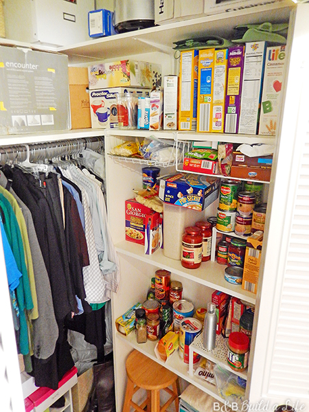 organizing a glam closet with a pantry at BandBBuildALife.com