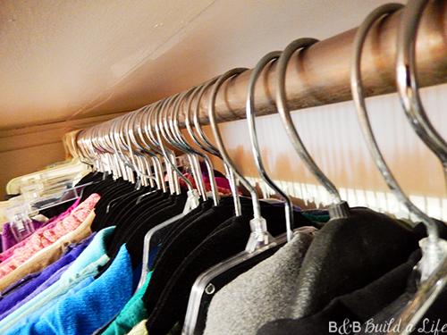 organizing a glam closet at BandBBuildALife.com