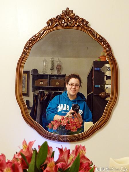 antique mirror thrifting score at BandBBuildALife.com