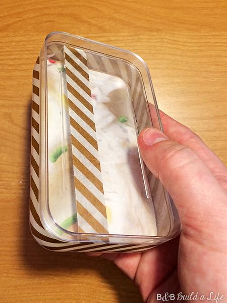 Turn an ipod touch box into a handy jewelry box acrylic travel jewelry box DIY washi tape at BandBBuildALife.com