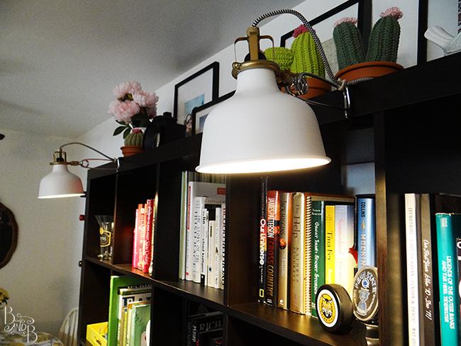 Bookshelf Lamps Ikea Chevron Wrapped Cord Spotlights From  BandBBuildALife.com