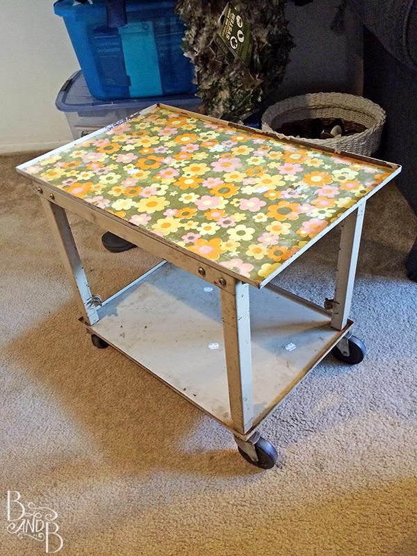Printer Stand for Desk at BandBBuildALife.com
