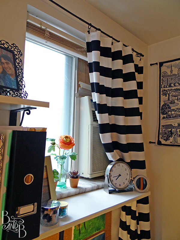 easy striped curtains