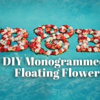 DIY Floating Floral Monogram