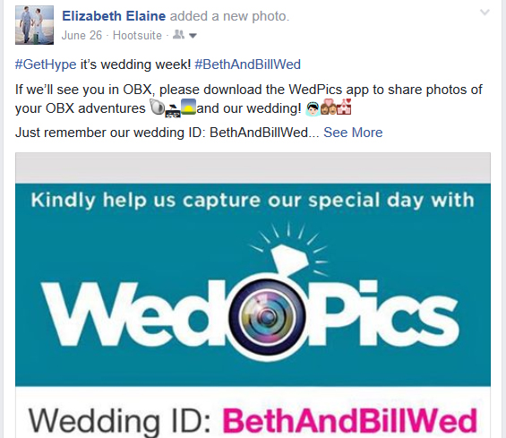 Use WedPics to collect photos of your wedding