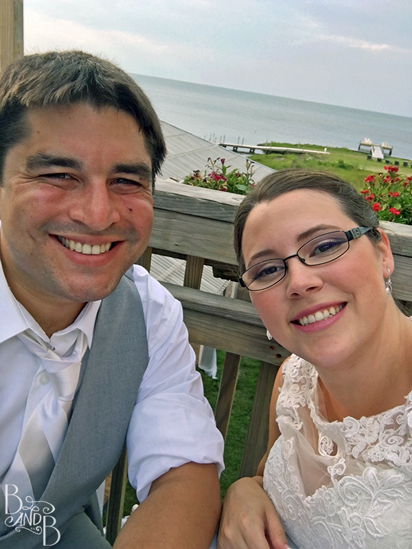 Beth and Bill's First Selfie as Husband and Wife