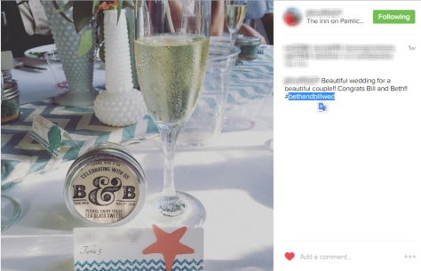 Instagram Hashtag used to collect wedding content
