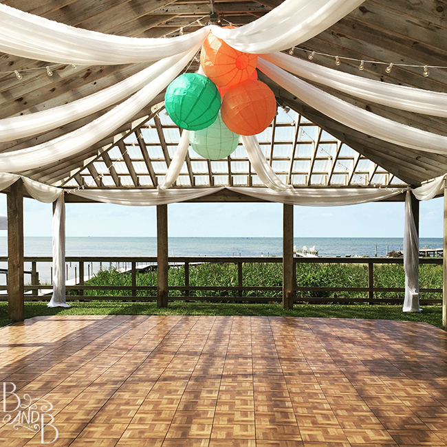 dance floor at the inn on pamlico sound outer banks nc wedding