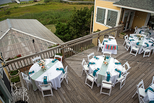 Beth and Bill's Outer Banks Wedding Dining Area