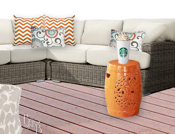 Fall Deck Decor Pumpkin Spice Latte