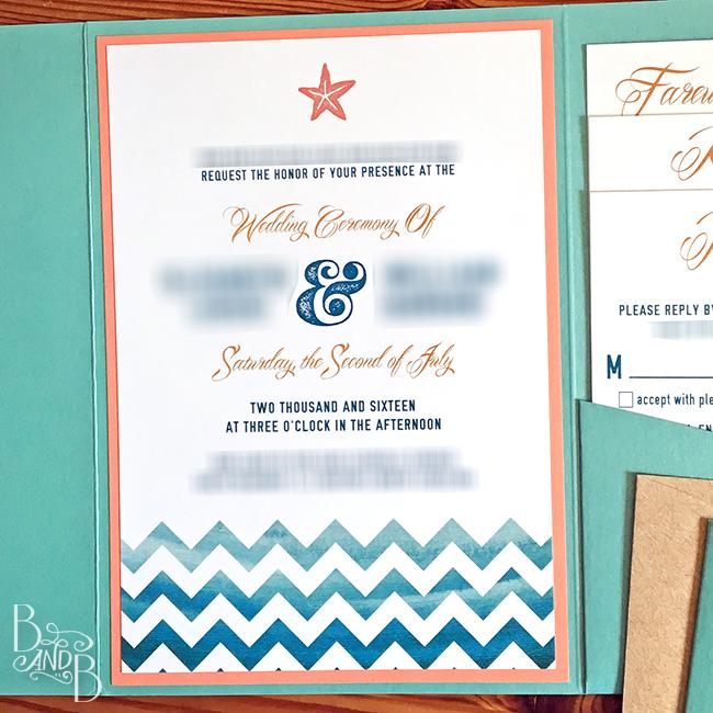 DIY Wedding Invite using Cards and Pockets