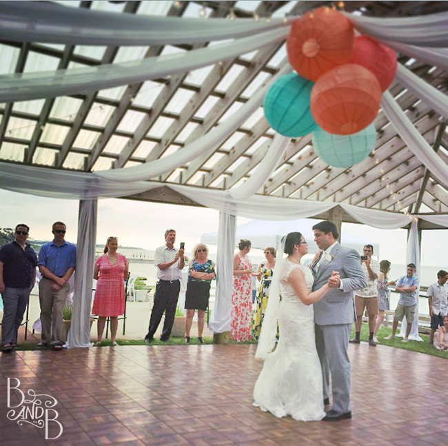 perfect first dance moment at the inn on pamlico sound outer banks wedding