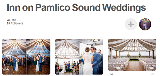 Use pinterest to collect realistic inspiration for your wedding