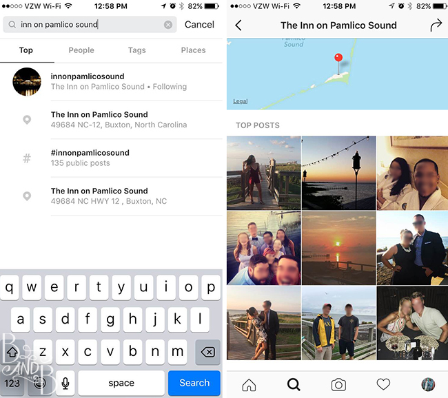 Use Social Media to find location specific inspiration for your wedding