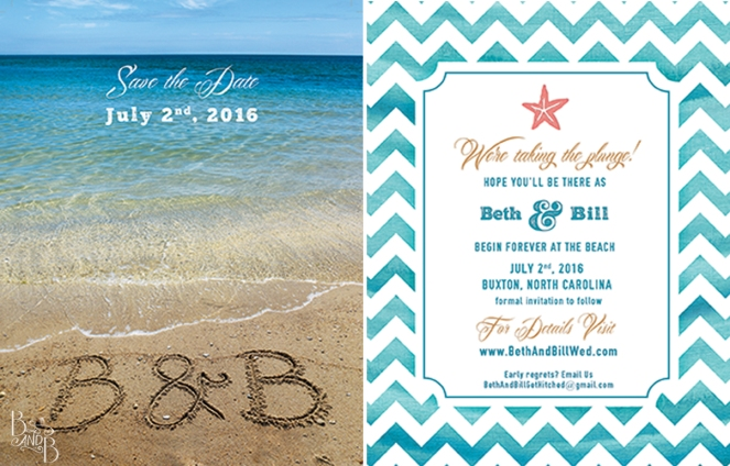 OBX Car Magnet Save The Date Card for Outer Banks Wedding