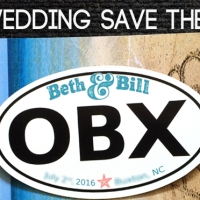DIY OBX Wedding Save the Dates