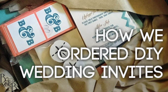 How to DIY Wedding Invites Outer Banks
