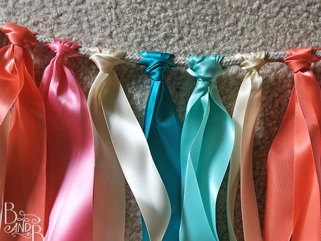 DIY Ribbon Backdrop for Destination WEdding