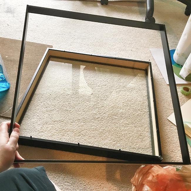 Ikea Ribba Frame shadow box for wedding photo