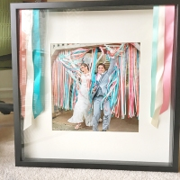 A Ribbon Shadowbox Frame