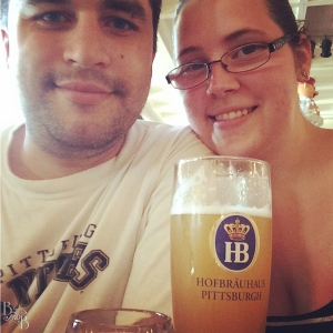 Practicing for our trip at Hofbrauhaus Pittsburgh