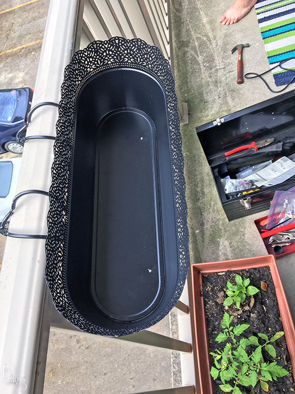 cheap balcony planter diy